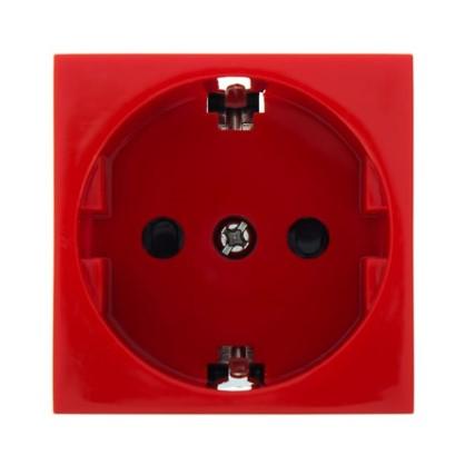Розетка LK Studio LK45 с заземлением есть шторки цвет красный