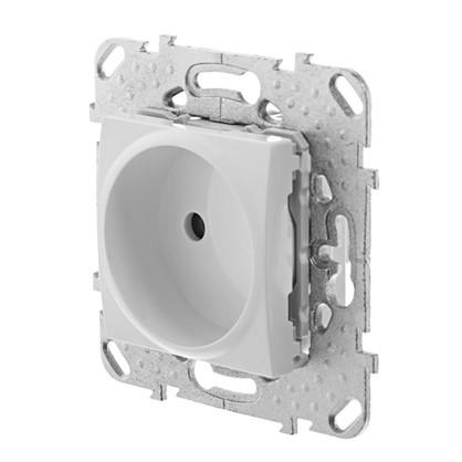 Розетка Schneider Electric Unica есть шторки цвет белый