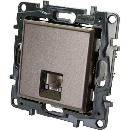 Купить Розетка телефонная Legrand Structura RJ11 цвет магнезиум дешевле