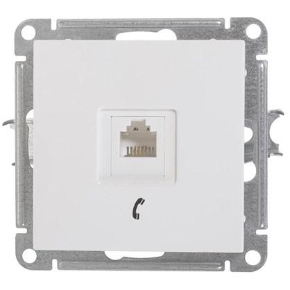 Розетка телефонная W59 RJ11 160В 1А цвет белый