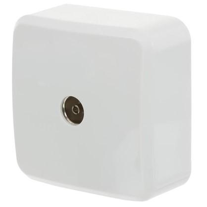 Купить Розетка ТВ оконечная цвет белый дешевле