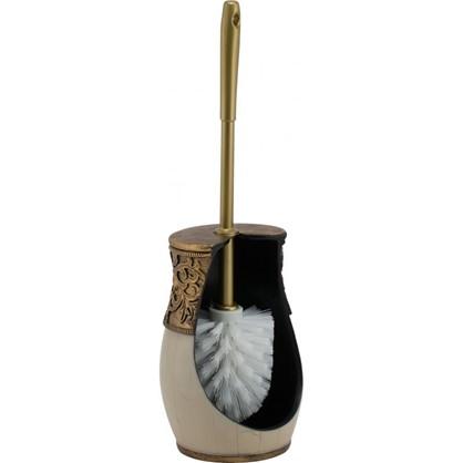 Ершик для унитаза напольный Флоренция полирезина цвет кремовый