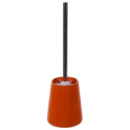 Купить Ершик для унитаза напольный Veta керамика цвет оранжевый дешевле