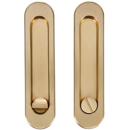 Ручка для раздвижных дверей с механизмом SH011-BK SG-1 цвет матовое золото