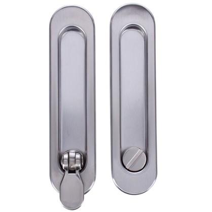 Купить Ручка для раздвижных дверей с механизмом SH011-BK SN-3 цвет матовый никель дешевле