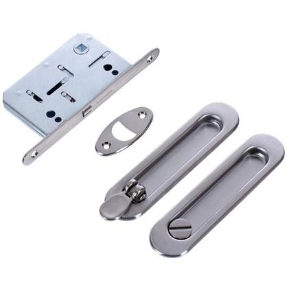 Ручка для раздвижных дверей с механизмом SH011-BK SN-3 цвет матовый никель