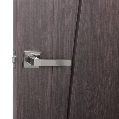 Ручка дверная на розетке AL 521-02 цвет матовый/глянцевый никель