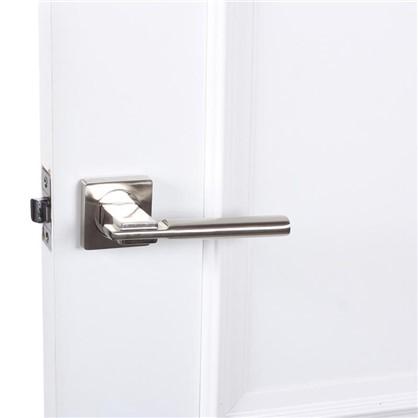 Купить Ручка дверная на розетке AL 523-02 цвет матовый/глянцевый никель дешевле