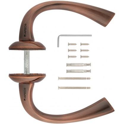 Ручка дверная на розетке Apecs Premier H-0579-Z-AC ЦАМ цвет старая медь