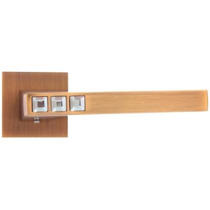 Ручка дверная на розетке CRYSTAL FLASH DM/HD CF-17 цвет кофе
