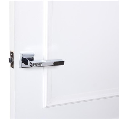 Ручка дверная на розетке CRYSTAL FLASH DM/HD CP-8 цвет хром