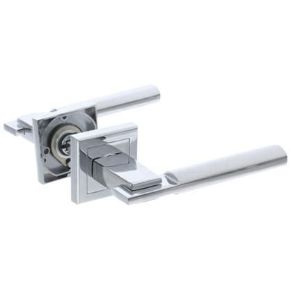 Ручка дверная на розетке FTZ25-E03 цвет глянцевый хром