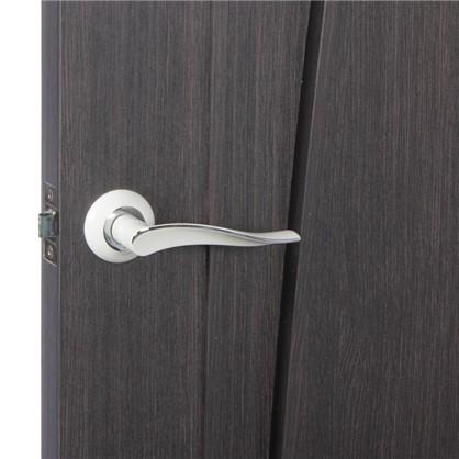 Купить Ручка дверная на розетке Модена цвет белый/хром дешевле
