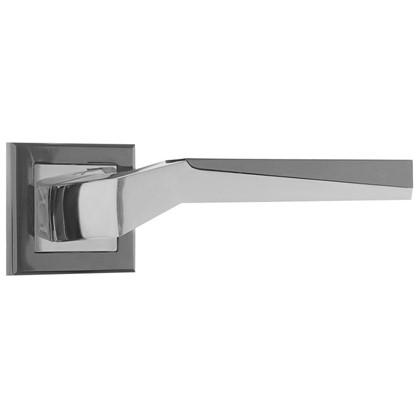 Ручка дверная на розетке Z6090/ZR09 цвет глянцевый хром/графит