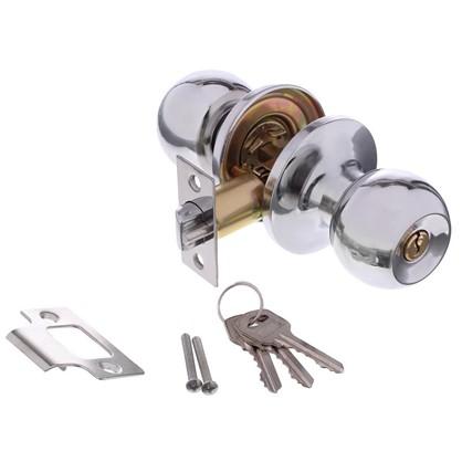 Ручка-кноб 3087 с ключами цвет хром