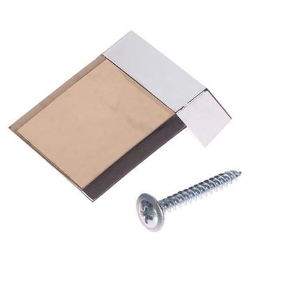 Ручка-кнопка 85 цвет коричневый/серебро