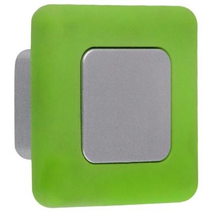 Купить Ручка-кнопка B 050 000 цвет сатин/зеленый дешевле