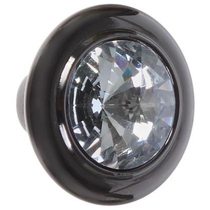 Ручка-кнопка CRL35 ЦАМ цвет черный хром