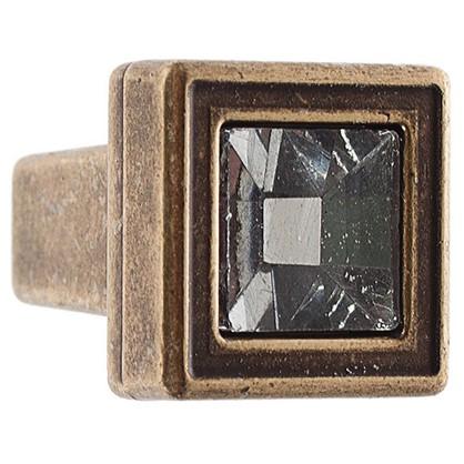 Ручка-кнопка FB-018 000 цвет бронза кристалы