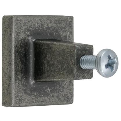 Ручка-кнопка Jet 195 сталь цвет античное серебро