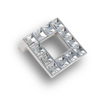 Ручка-кнопка Kerron с кристаллами цвет хром