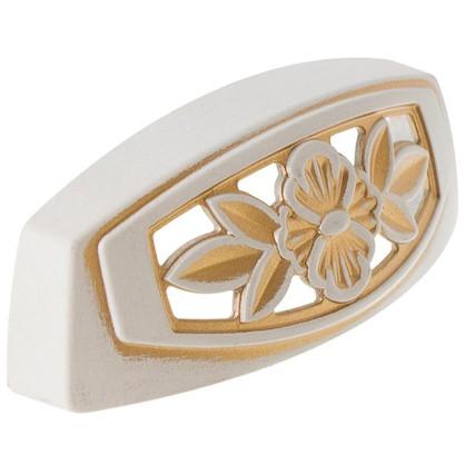 Купить Ручка мебельная FM-088 64 мм золотой прованс/жемчуг белый матовый дешевле