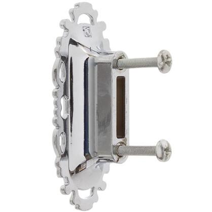 Ручка мебельная FM-094 32 мм цвет глянцевый хром/белый