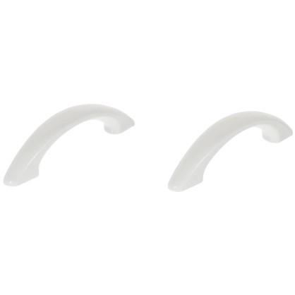 Ручка-скоба 64 мм пластик цвет белый 2 шт.