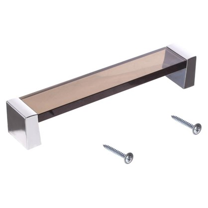 Ручка-скоба 83 цвет коричневый/серебро