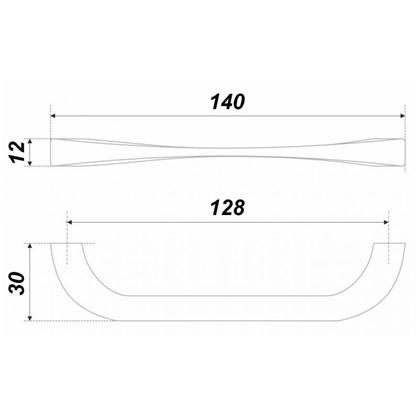 Ручка-скоба Boyard RS442BAZ.4 128 мм металл цвет античный цинк