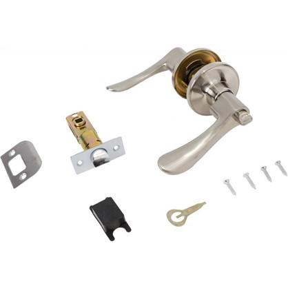 Ручка-защелка 3201 SN BK с фиксатором цвет матовый никель