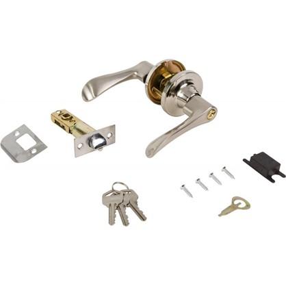 Ручка-защелка 3201 SN ET с ключом и фиксатором цвет матовый никель