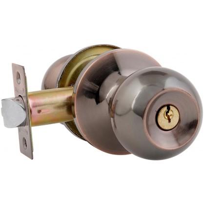 Ручка-защелка Avers 6082-01-AC с ключом и фиксатором сталь цвет старая медь