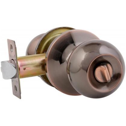 Ручка-защелка Avers 6082-03-AC с фиксатором сталь цвет старая медь