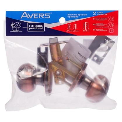 Купить Ручка-защелка Avers 6082-05-AC без запирания сталь цвет старая медь недорого
