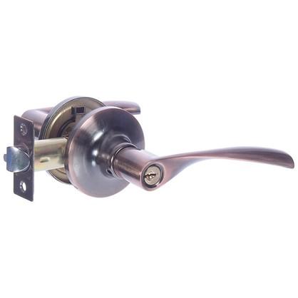 Ручка-защелка Avers 8023-01-AC с ключом и фиксатором сталь цвет старая медь