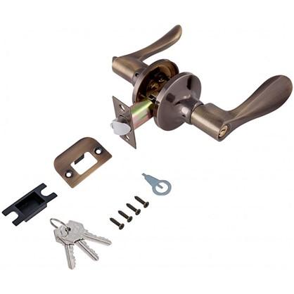 Ручка-защелка Avers 8026-01-AN с ключом и фиксатором сталь цвет античное серебро