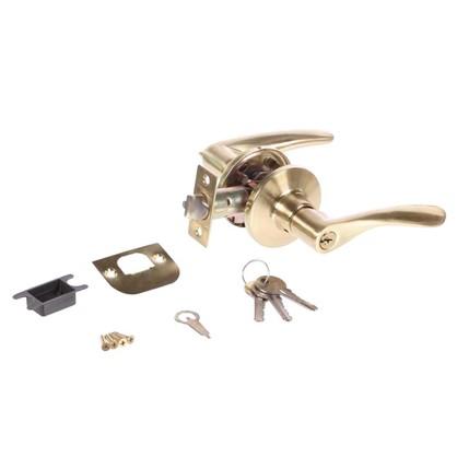 Ручка-защелка Palladium 3901 SB ET с ключом и фиксатором ЦАМ цвет матовая латунь