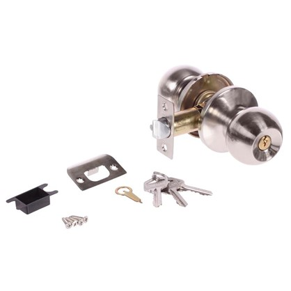 Ручка-защелка Palladium 607 SN ET с ключом и фиксатором сталь цвет матовый никель