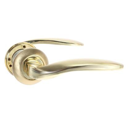 Ручки дверные Megapolis Beijing H-0809-А-GM/G цвет глянцевое золото