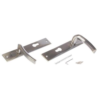 Ручки дверные на розетке EDS-T117-85 цвет античная бронза