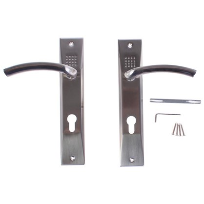 Ручки дверные на розетке EDS-T117-85 цвет матовый хром