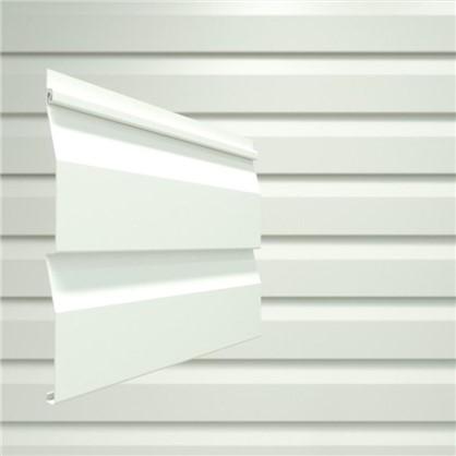 Сайдинг ПВХ брус 2700х203 мм белый 0.548 м2