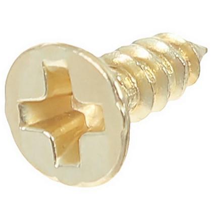 Саморез декоративный 5х4 мм цвет золото 50 шт.