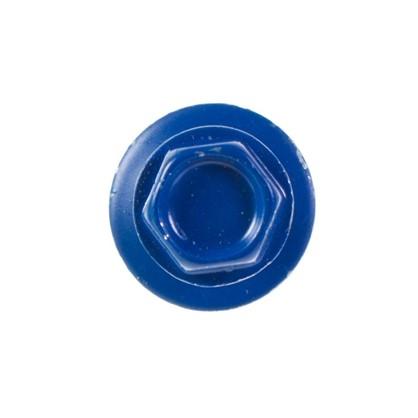 Саморезы кровельные с буром 4.8х28 мм цвет синий на вес