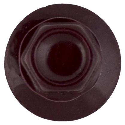 Саморезы кровельные с буром 4.8х28 мм цвет темно-коричневый на вес