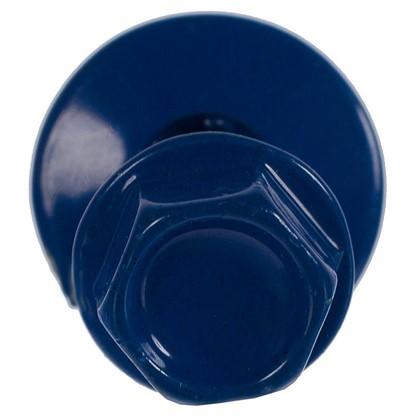 Саморезы кровельные с буром 4.8х35 мм цвет синий на вес