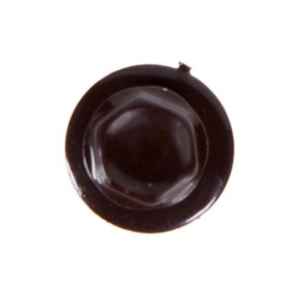 Саморезы кровельные с буром 4.8х35 мм цвет темно-коричневый на вес
