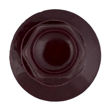Саморезы кровельные с буром 4.8х35 мм цвет темно-красный на вес