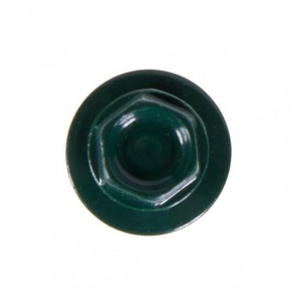 Саморезы кровельные с буром 4.8х35 мм цвет темно-зеленый на вес